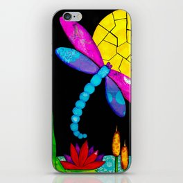 Find Your Way - paper pieced dragonfly iPhone Skin