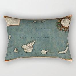 Map Of Canary Islands 1563 Rectangular Pillow