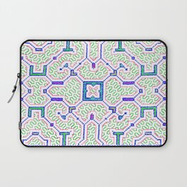 The Song to Support Spiritual Growth - Traditional Shipibo Art - Indigenous Ayahuasca Patterns Laptop Sleeve