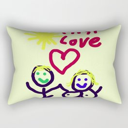 THE RELATIONSHIP,  A LOVE STORY Rectangular Pillow