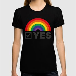 Vote Yes! - Rainbow Tick T-shirt