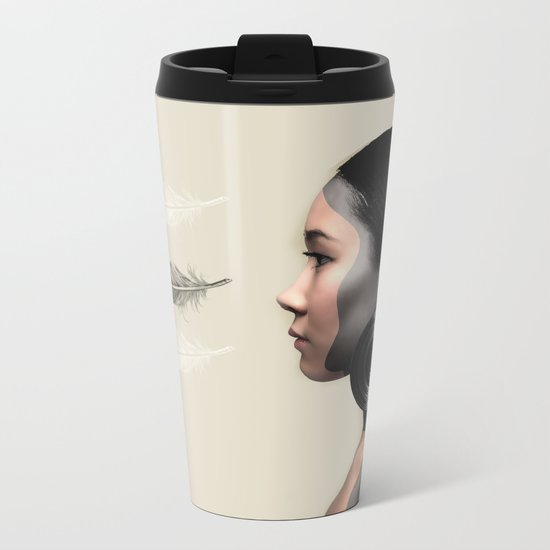 Fear of Falling Metal Travel Mug