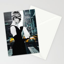 """Photo Montage """"Audrey in The City"""" Stationery Cards"""