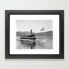 Vintage Mohican Steamboat Framed Art Print