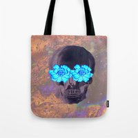 day of the dead Tote Bags featuring Day of the Dead by Charlotte Anderson