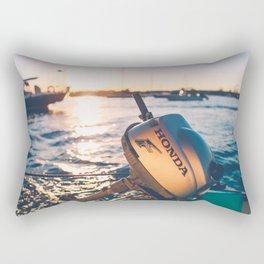 Golden Dingy Rectangular Pillow