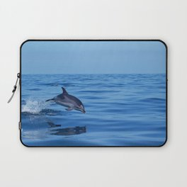 Spotted dolphin jumping in the Atlantic ocean Laptop Sleeve