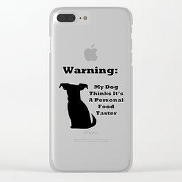 Warning Dog Clear iPhone Case