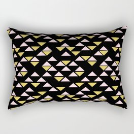 Bright Like a Diamond - Black Rectangular Pillow