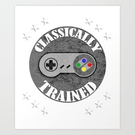 Classically Trained Retro 4 Button Video Game Shirt Art Print