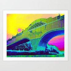 Neon Bridge to Paradise Art Print