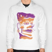 the dude Hoodies featuring DUDE by msunde