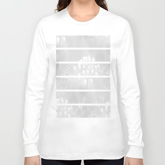 Grey And White Long Sleeve T-shirt
