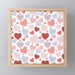 Valentine's Day pattern Framed Mini Art Print