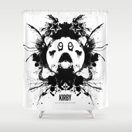 Kirby Ink Blot Geek Psychological Disorders Shower Curtain