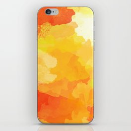 Colorful Abstract - red orange pattern iPhone Skin