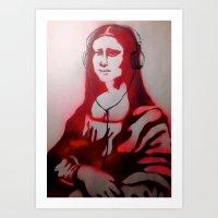 Mona Dear Mona Art Print