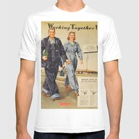 1942 Working Together Cover White MEDIUM Mens Fitted Tee