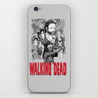 the walking dead iPhone & iPod Skins featuring Walking Dead by Matt Fontaine
