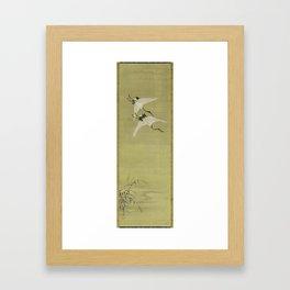 Cranes on the Wing Sokaku zu   Japanese, Edo Period, first half of the 18th century Kano Norinobu, J Framed Art Print