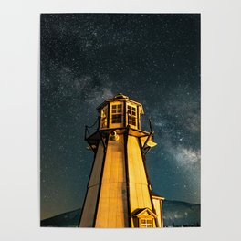 Mountain Light House Two Poster