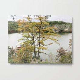 Texas lake fall leaves Metal Print