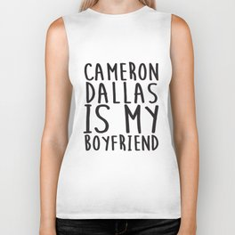 Cameron Dallas Is My Boyfriend Top Vine Professional Fangirl Boyfriend T-Shirts Biker Tank