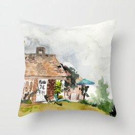 it's about to rain Throw Pillow