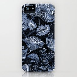 Blooms in the blue night iPhone Case