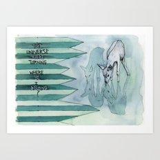 keeps turning Art Print