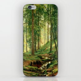 "Ivan Shishkin ""Stream in the Forest (On the Hillside)"" iPhone Skin"