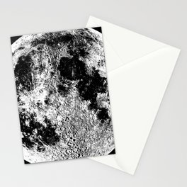 Black + White Full Moon, print by Christy Nyboer Stationery Cards