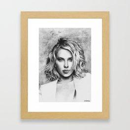Scarlett Johansson Framed Art Print