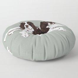 Springer Spaniel Buddies Floor Pillow
