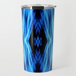 Electric Blue Abstract Travel Mug