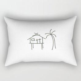 Little Island House Rectangular Pillow
