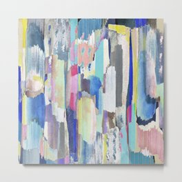 Multicoloured abstract marker painting Metal Print