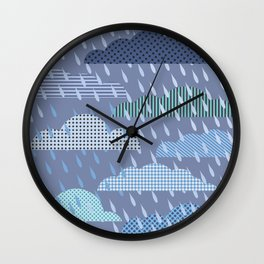 rainy cloud Wall Clock