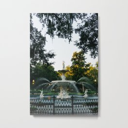 Savannah Forsyth Park II Metal Print