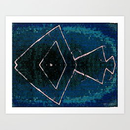 Beatnik Ocean  Art Print