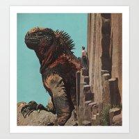 yoshi Art Prints featuring Yoshi by David Delruelle