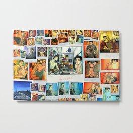 Morning Blues collage Metal Print