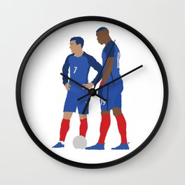 Griezmann & Pogba France Print Wall Clock