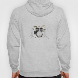Black Drum Kit Hoody