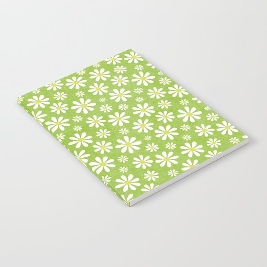 DAISIES ON APPLE GREEN Notebook
