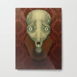 Shocked Alien Metal Print