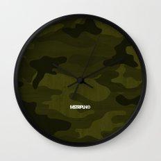 Modern Woodgrain Camouflage / Greenwoods DPM Wall Clock