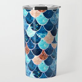 REALLY MERMAID BLUE & GOLD Travel Mug