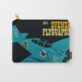 Swedish EP-106 airplane poster ShreddyStudio Dennis Weber Carry-All Pouch