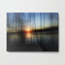 Sunset Blur Metal Print